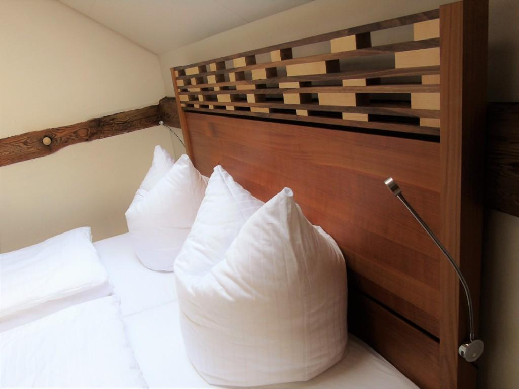 Die Bettwäsche hat Überlänge für den Kuschelkomfort