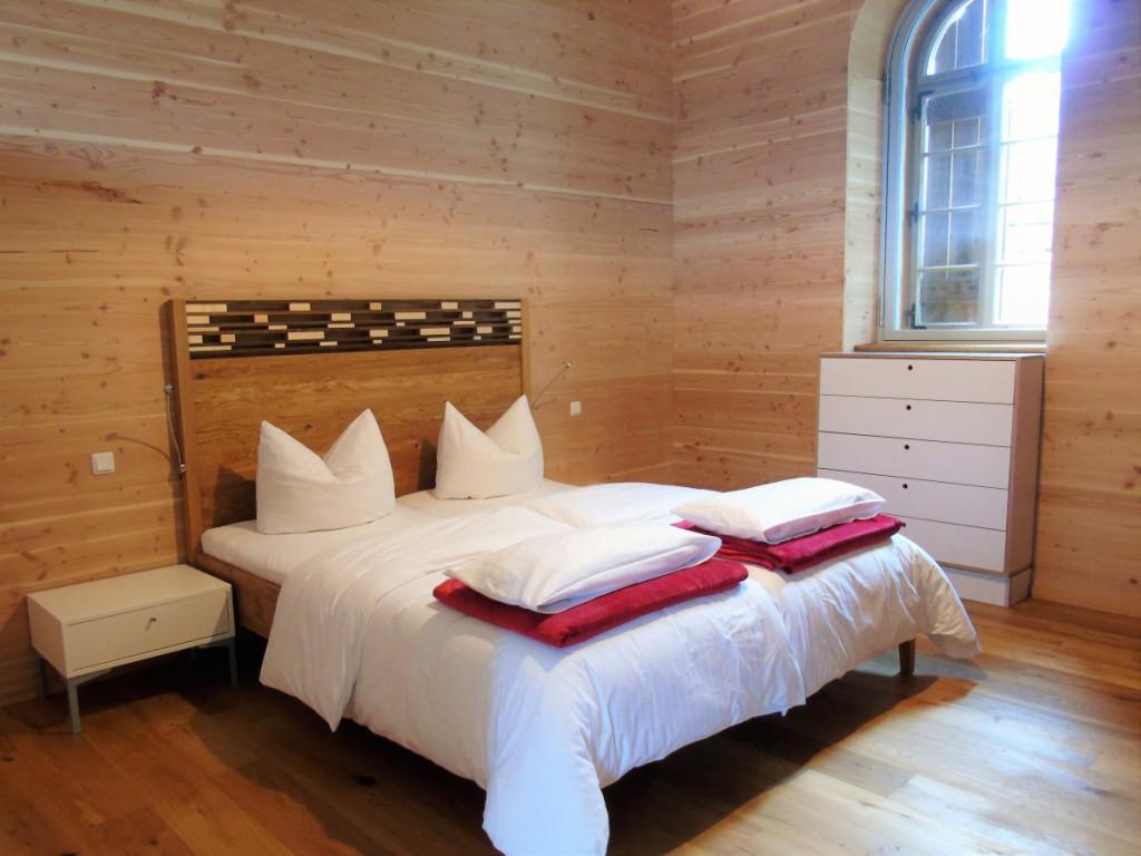 Eichenfrau Bett in Überlänge 220 cm!